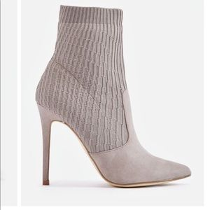 JUST FAB | Grey Sock Bootie